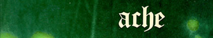 ACHE logo on the Green Man album